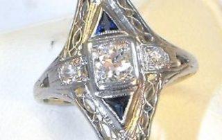 diamond rings Sunshine Coast - vintage jewellery Mooloolaba