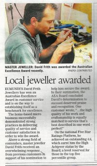master jeweller Sunshine Coast - jewellery designer Tewantin